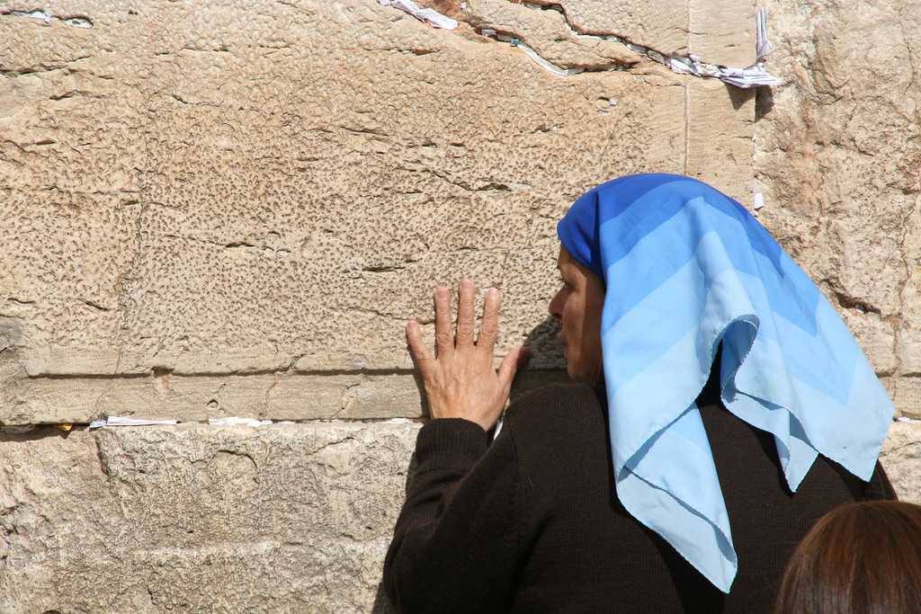 the western wall. 嘆きの壁